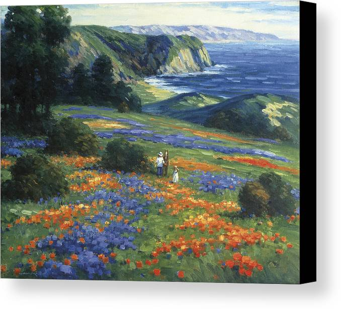 Floral Doman Canvas Print by Ghambaro