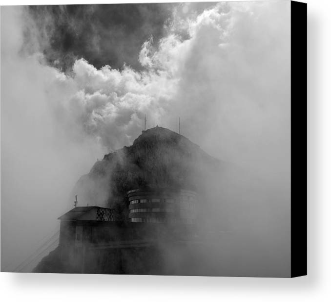 Mount Pilatus Canvas Print featuring the photograph Pilatus Unveiled by Aaron S Bedell