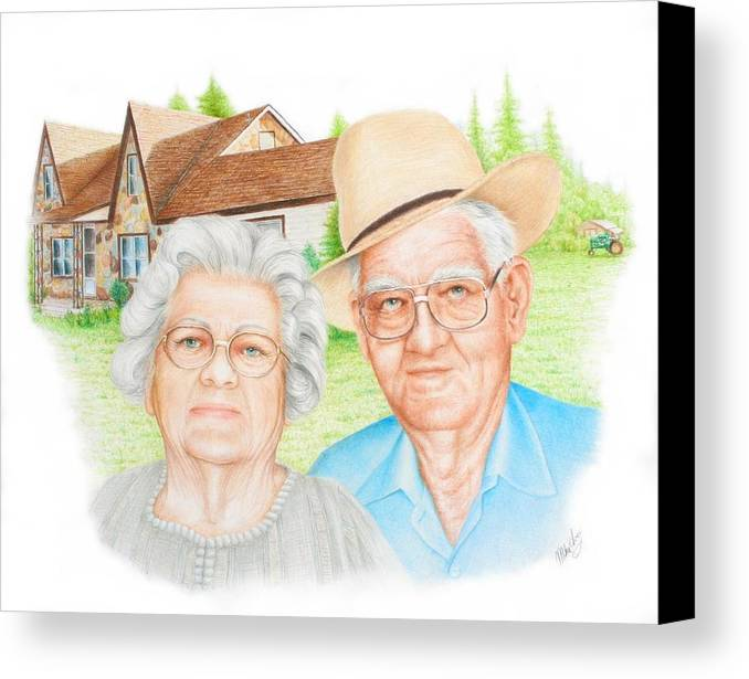 Portrait Canvas Print featuring the drawing Smith Commission by Mike Ivey