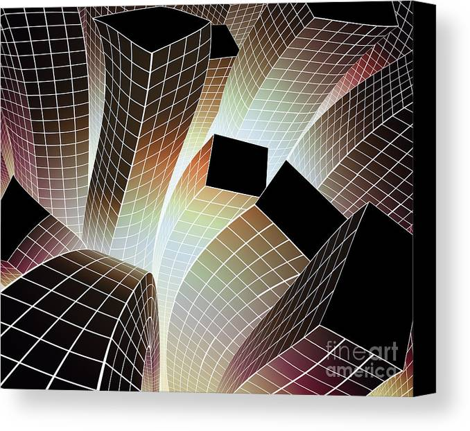 Aftershock Canvas Print featuring the digital art Happy City by Atiketta Sangasaeng