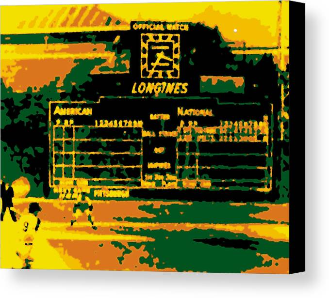 Official Watch Canvas Print featuring the photograph Maz World Series Homer by Ron Regalado