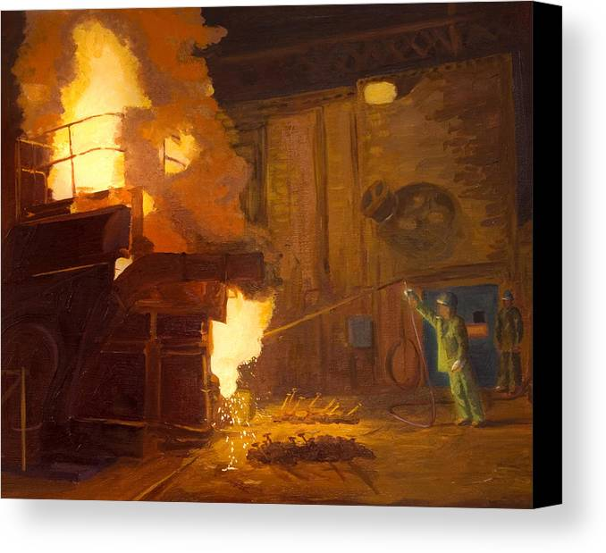 Melter Canvas Print featuring the painting The Melter by Martha Ressler