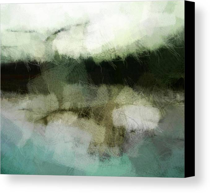 Landscape Canvas Print featuring the digital art Early Morning Flight by Gun Legler