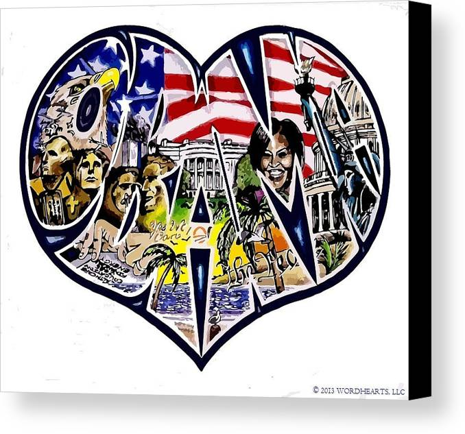 Obama Canvas Print featuring the drawing Obama's Presidency by Alexis Heath