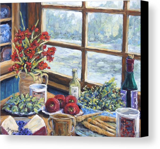 Still Life Canvas Print featuring the painting Spice Table By Prankearts by Richard T Pranke