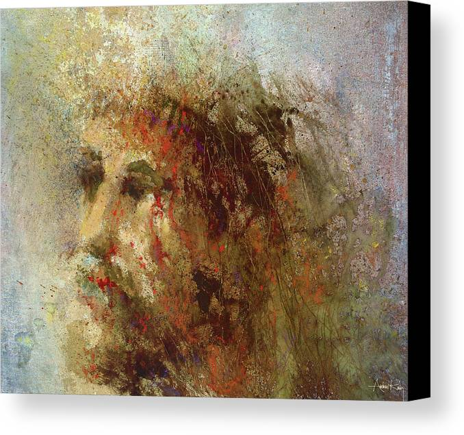 Religious Canvas Print featuring the painting The Lamb by Andrew King