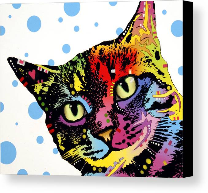 Dog Canvas Print featuring the painting The Pop Cat by Dean Russo