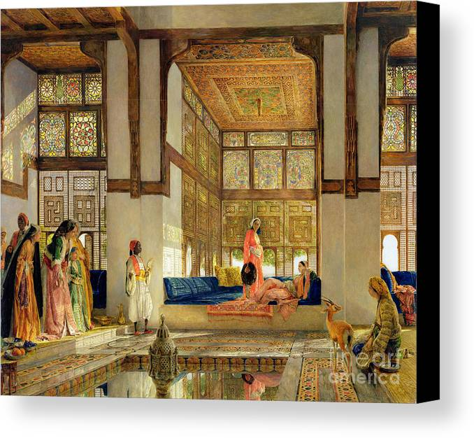 The Canvas Print featuring the painting The Reception by John Frederick Lewis