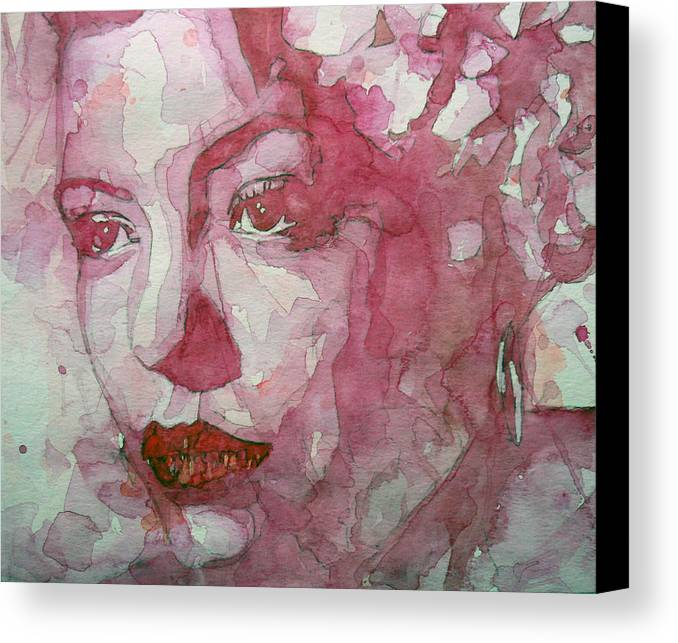 Billie Holiday Canvas Print featuring the painting All Of Me by Paul Lovering