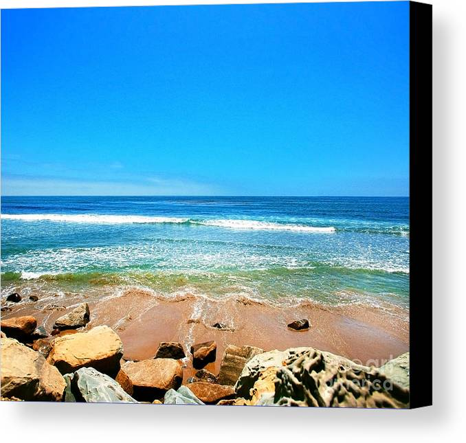 Rincon Canvas Print featuring the photograph Along The Rincon California Surf Spot From The Book My Ocean by Artist and Photographer Laura Wrede