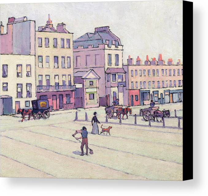 Xyc153929 Canvas Print featuring the photograph The Weigh House - Cumberland Market by Robert Polhill Bevan
