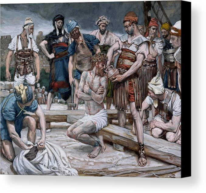 Dutch Courage Canvas Print featuring the painting The Wine Mixed With Myrrh by Tissot