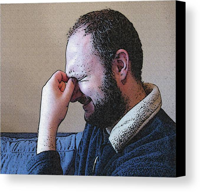 Depression Canvas Print featuring the mixed media Depression by Darren Stein