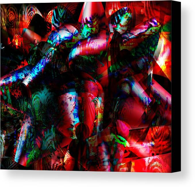 Fania Simon Canvas Print featuring the digital art Diaspora Culture - A State Of Being by Fania Simon