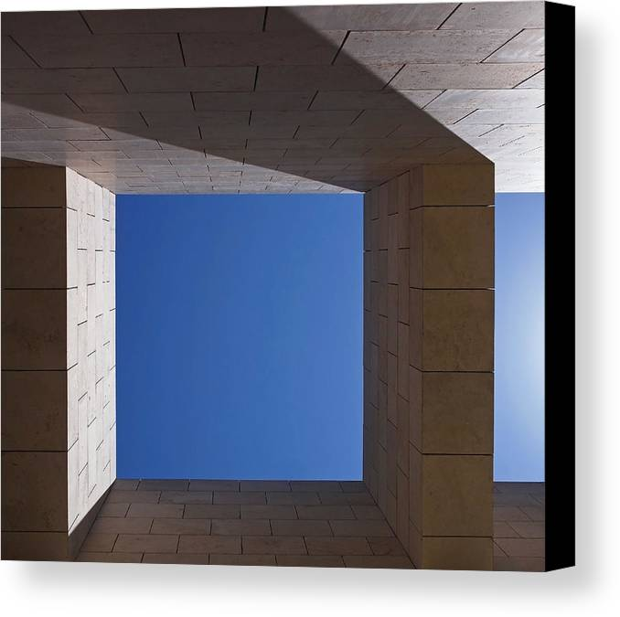 Abstract Canvas Print featuring the photograph Sky Box At The Getty by Rona Black