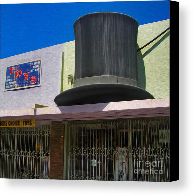 Magic Hat Canvas Print featuring the photograph Magic Hat Toy Shop by Gregory Dyer