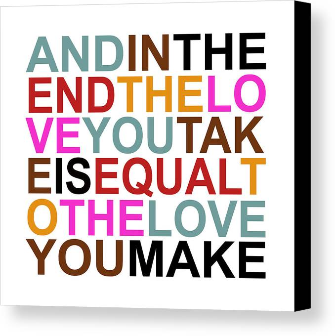 Beatles Canvas Print featuring the digital art The Love You Make by Mal Bray