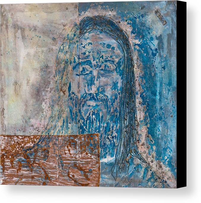 Art Canvas Print featuring the painting See Me See My Father And The Spirit by Thomas Lentz