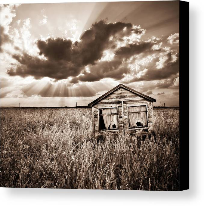 Shack Canvas Print featuring the photograph Abandoned by Meirion Matthias