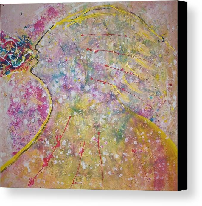 Native American Canvas Print featuring the painting Cosmos Song by Ruth Beckel