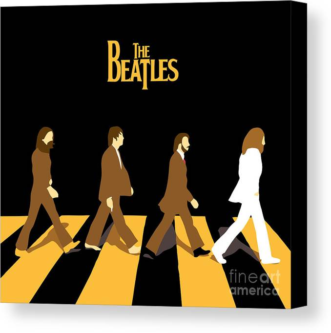 The Beatles Canvas Print featuring the digital art The Beatles No.19 by Caio Caldas