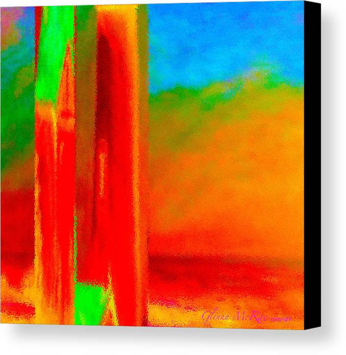 Abstract Canvas Print featuring the painting Abstract Splendor II by Glenna McRae