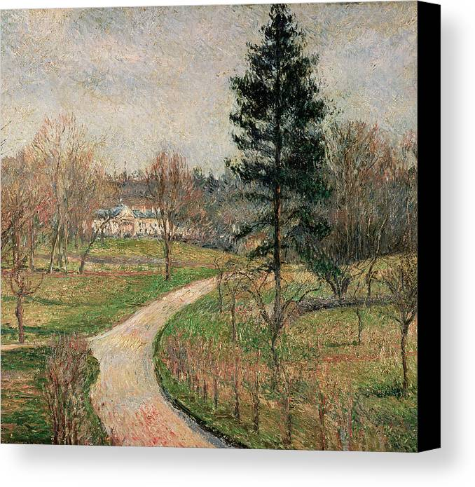 Impressionist Canvas Print featuring the painting The Chateau At Busagny by Camille Pissarro