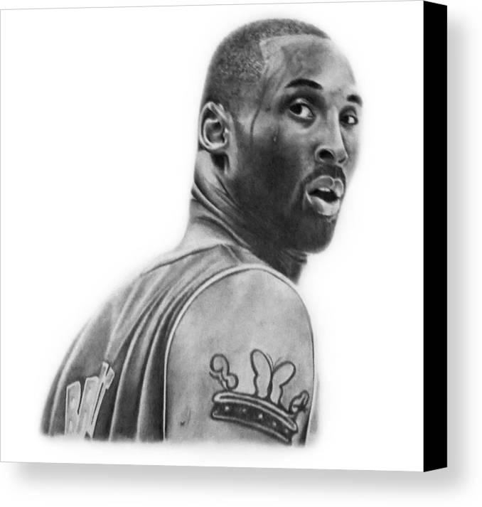 Kobe Canvas Print featuring the drawing Kobe Bryant by Don Medina