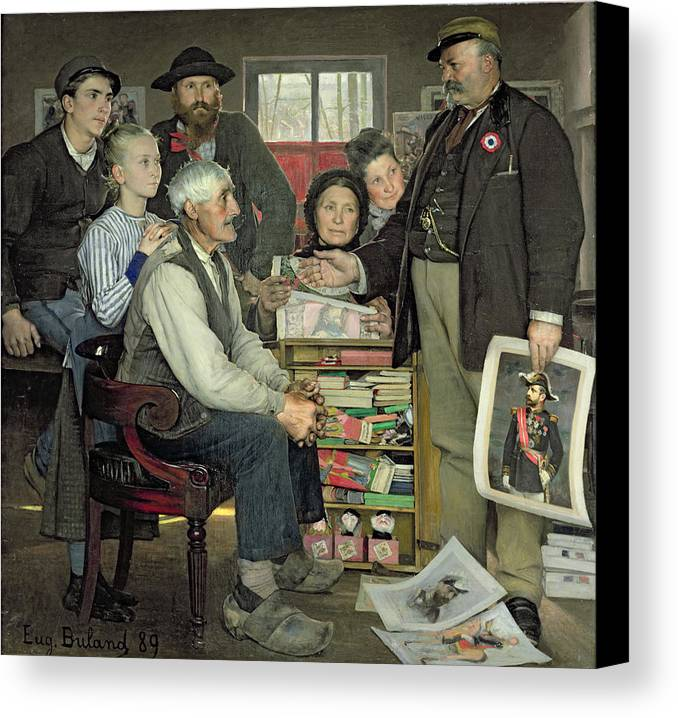 Propaganda Canvas Print featuring the painting Propaganda by Jean Eugene Buland