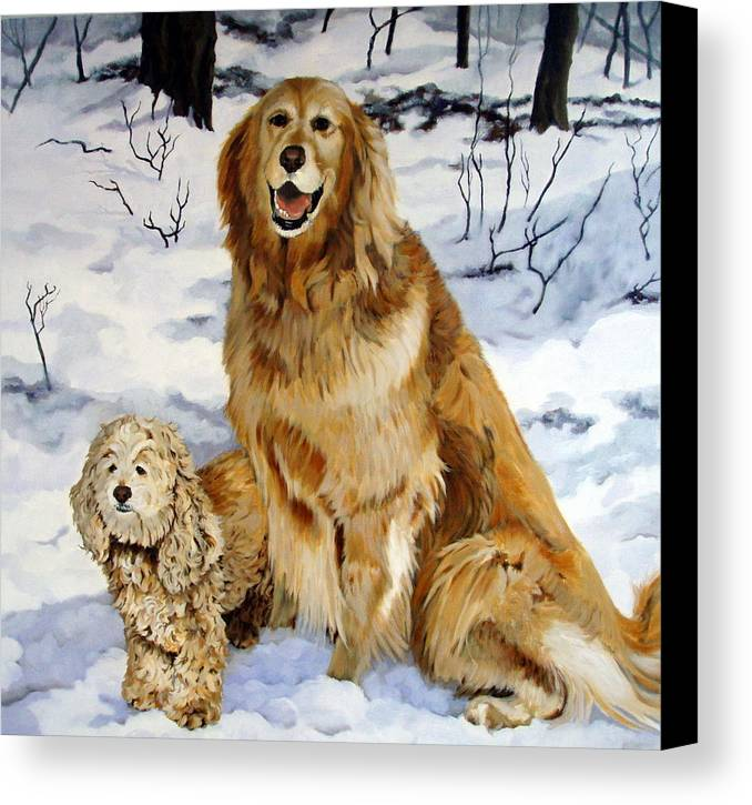 Dog Canvas Print featuring the painting Best Friends by Sandra Chase
