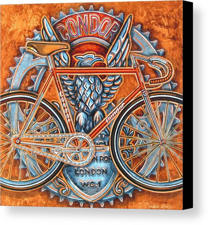 Bicycle Canvas Print featuring the painting Condor Fixed by Mark Howard Jones