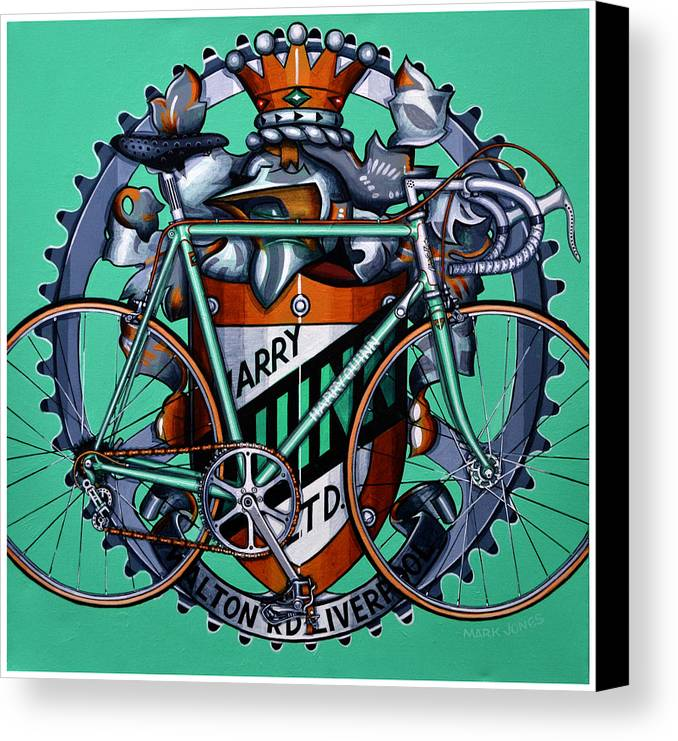 Bicycle Canvas Print featuring the painting Harry Quinn by Mark Howard Jones