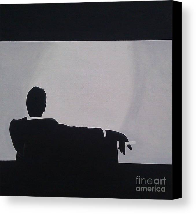 Artist Canvas Print featuring the painting Mad Men In Silhouette by John Lyes