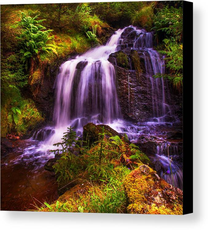Scotland Canvas Print featuring the photograph Retreat For Soul. Rest And Be Thankful. Scotland by Jenny Rainbow