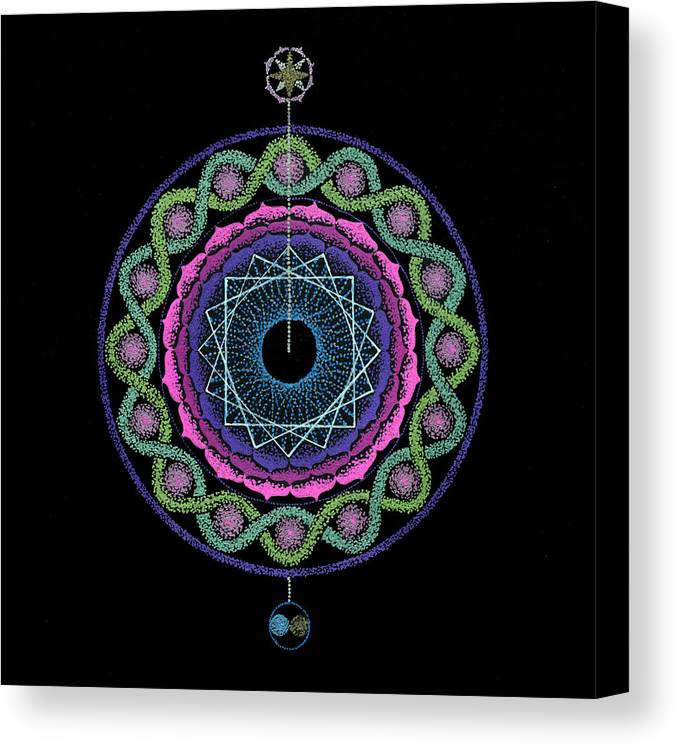 Healing Mandala Canvas Print featuring the painting Rising Above Challenges by Keiko Katsuta
