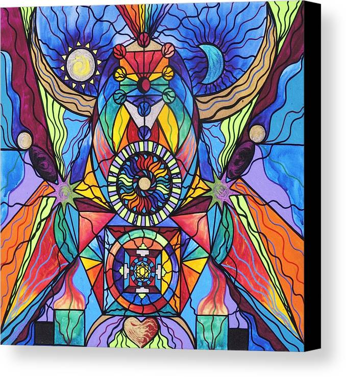 Spiritual Teacher Canvas Print featuring the painting Spiritual Guide by Teal Eye Print Store