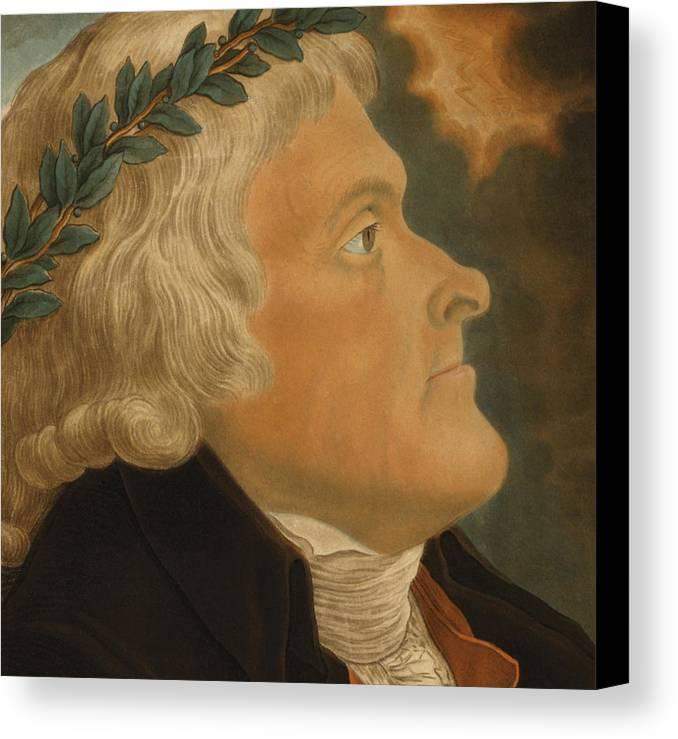 Thomas Jefferson Canvas Print featuring the painting Thomas Jefferson by Michael Sokolnicki