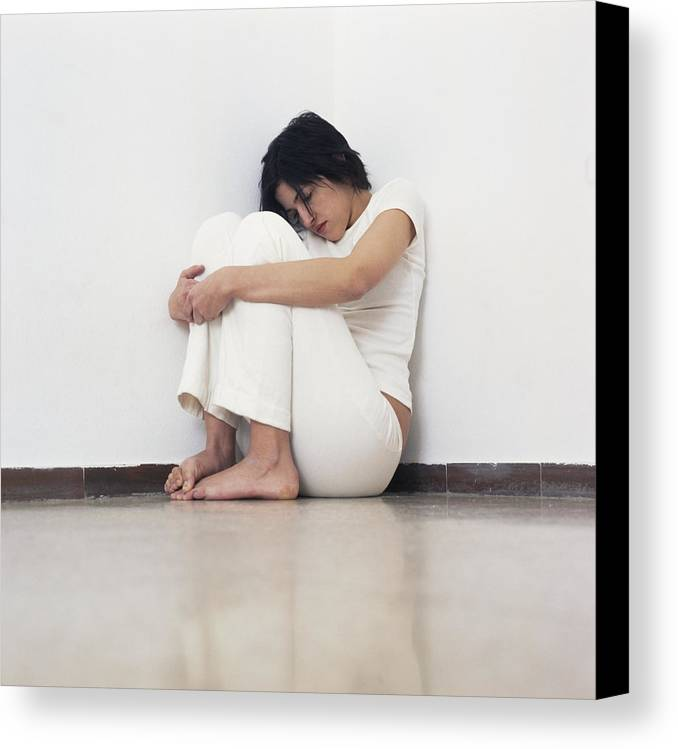 Human Canvas Print featuring the photograph Depressed Woman by Cristina Pedrazzini