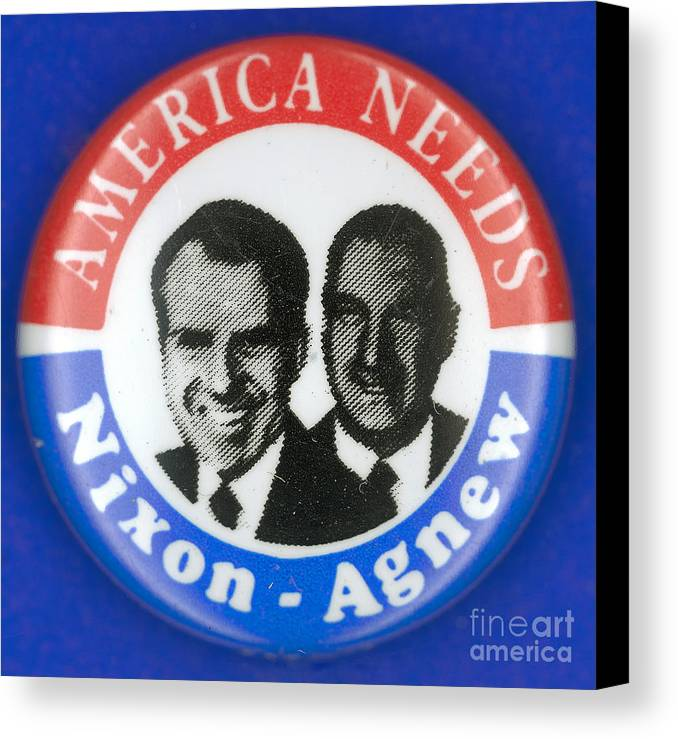 1972 Canvas Print featuring the photograph Presidential Campaign:1972 by Granger