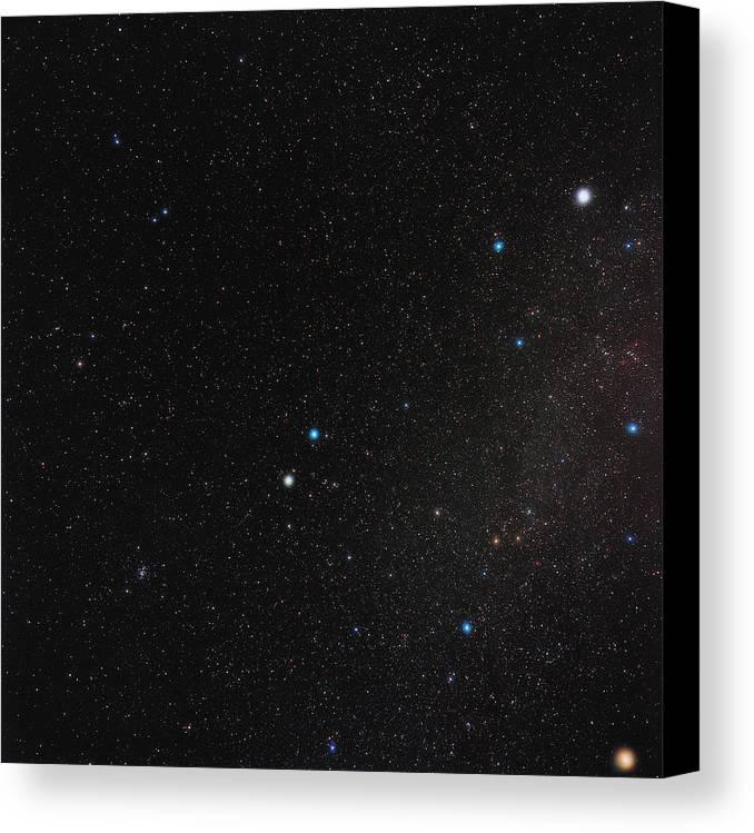 Gemini Canvas Print featuring the photograph Gemini Constellation by Eckhard Slawik