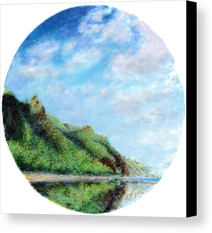 Coastal Decor Canvas Print featuring the painting Tondo by Kenneth Grzesik
