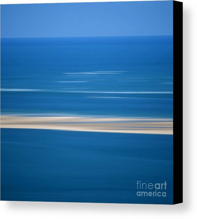 Outdoors Canvas Print featuring the photograph Blurred Sea by Bernard Jaubert
