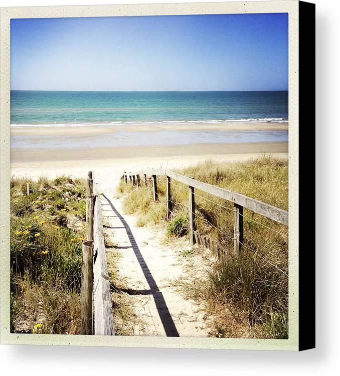 Beach Canvas Print featuring the photograph Beach by Les Cunliffe