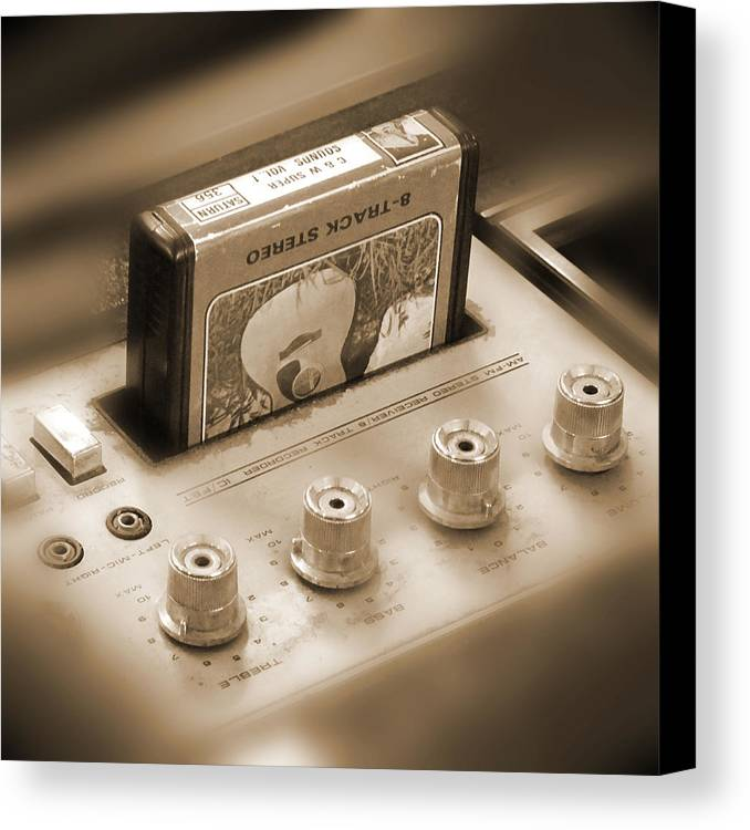 8-track Tape Player Canvas Print featuring the photograph 8-track Tape Player by Mike McGlothlen