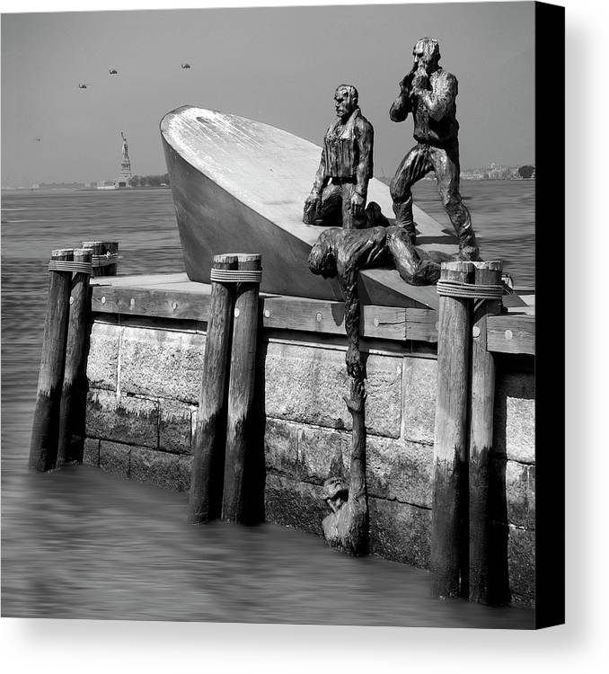 Landmarks Canvas Print featuring the photograph American Merchant Mariners Memorial by Mike McGlothlen