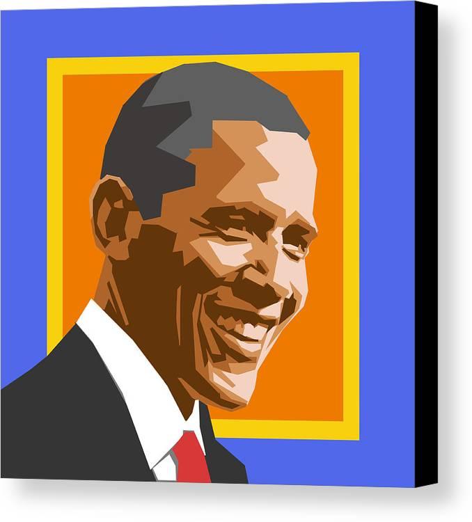 Barack Canvas Print featuring the digital art Barack by Douglas Simonson