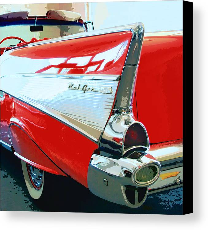Vintage Cars Canvas Print featuring the photograph Bel Air Palm Springs by William Dey