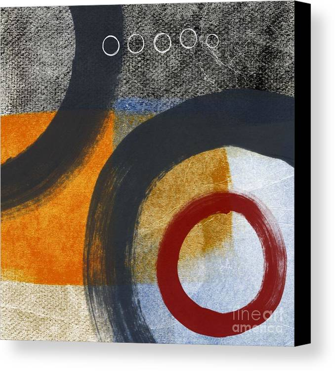 Circles Canvas Print featuring the painting Circles 3 by Linda Woods
