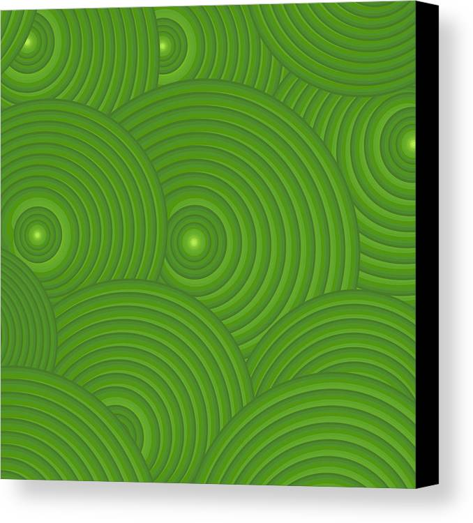 Frank Tschakert Canvas Print featuring the painting Green Abstract by Frank Tschakert