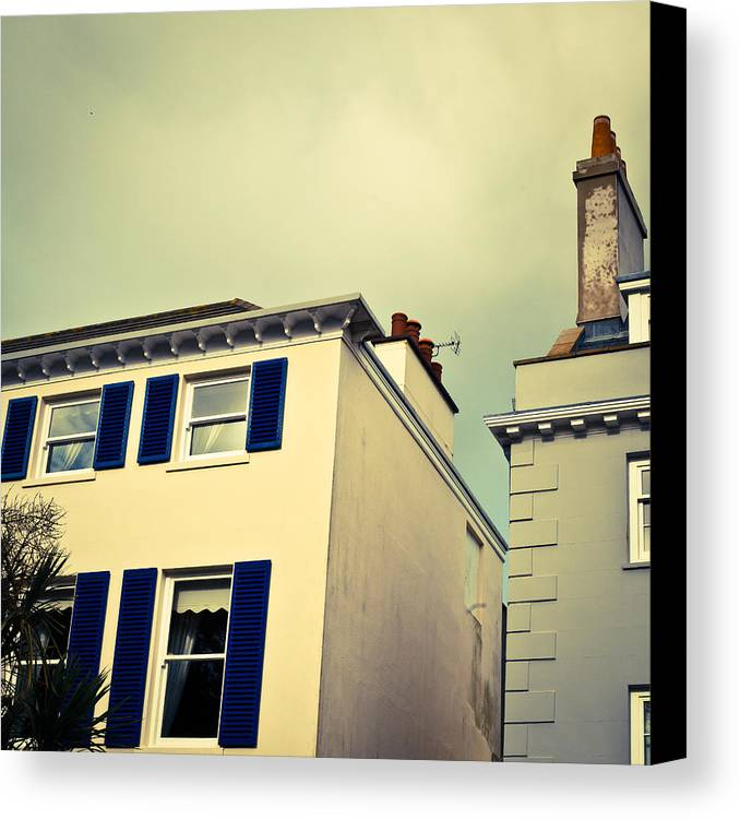 Apartment Canvas Print featuring the photograph Guernsey Houses by Tom Gowanlock